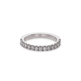 Pavé Set Round Diamond Engagement Ring 0.42ct