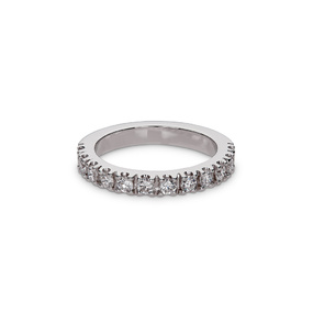 Pavé Set Round Diamond Engagement Ring 0.60cts