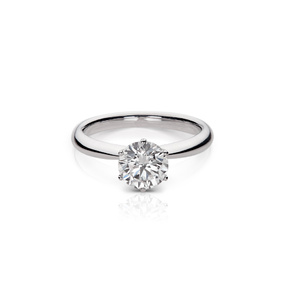 The Devam Signature Solitaire Diamond Engagement Ring