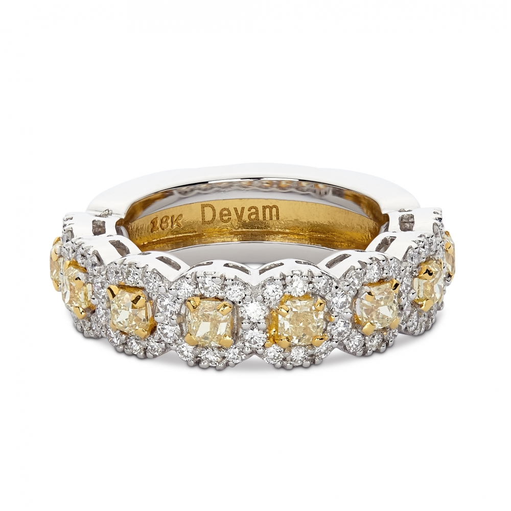 Two Tone Canary Diamond Ring