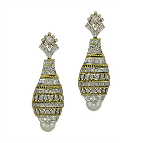 Contemporary Jhumka Style Earrings