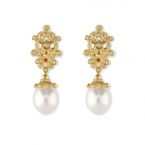 Arabesque Pearl Earrings
