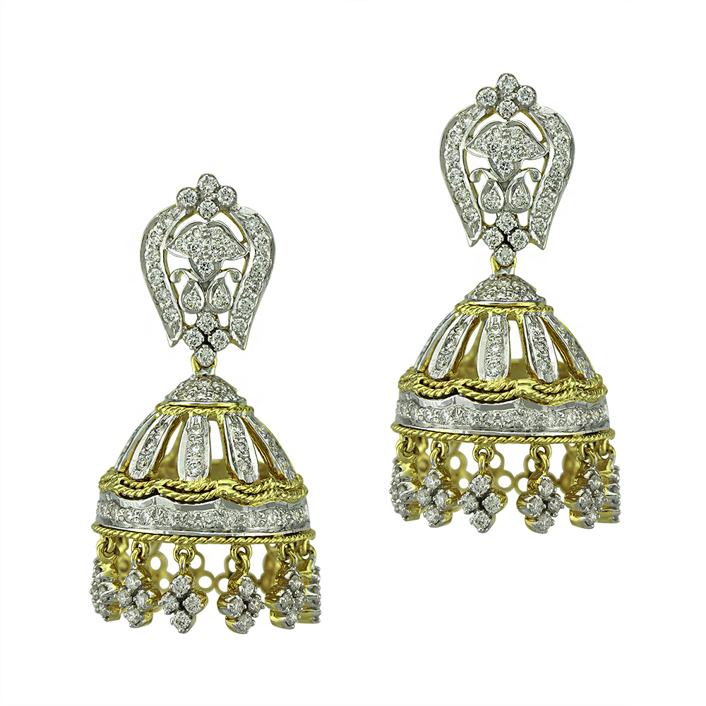 Diamond Gold Jhumka