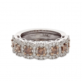 Princess Cognac 18k Ring