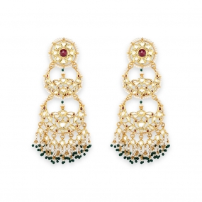 Crescent Chandbali Earrings