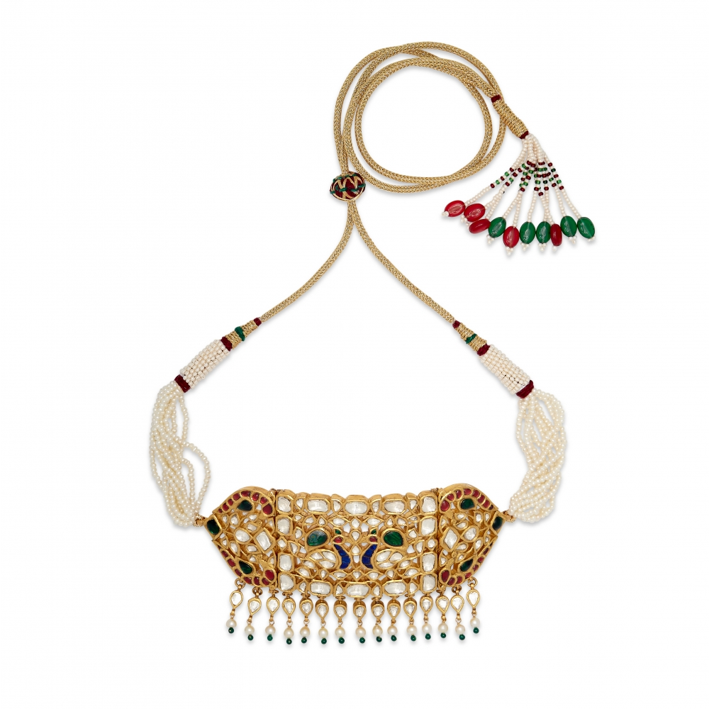 Peacock's Dance Choker Necklace Set