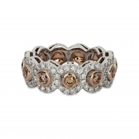 18k Multi-Gold Floral Bouquet Wedding Band