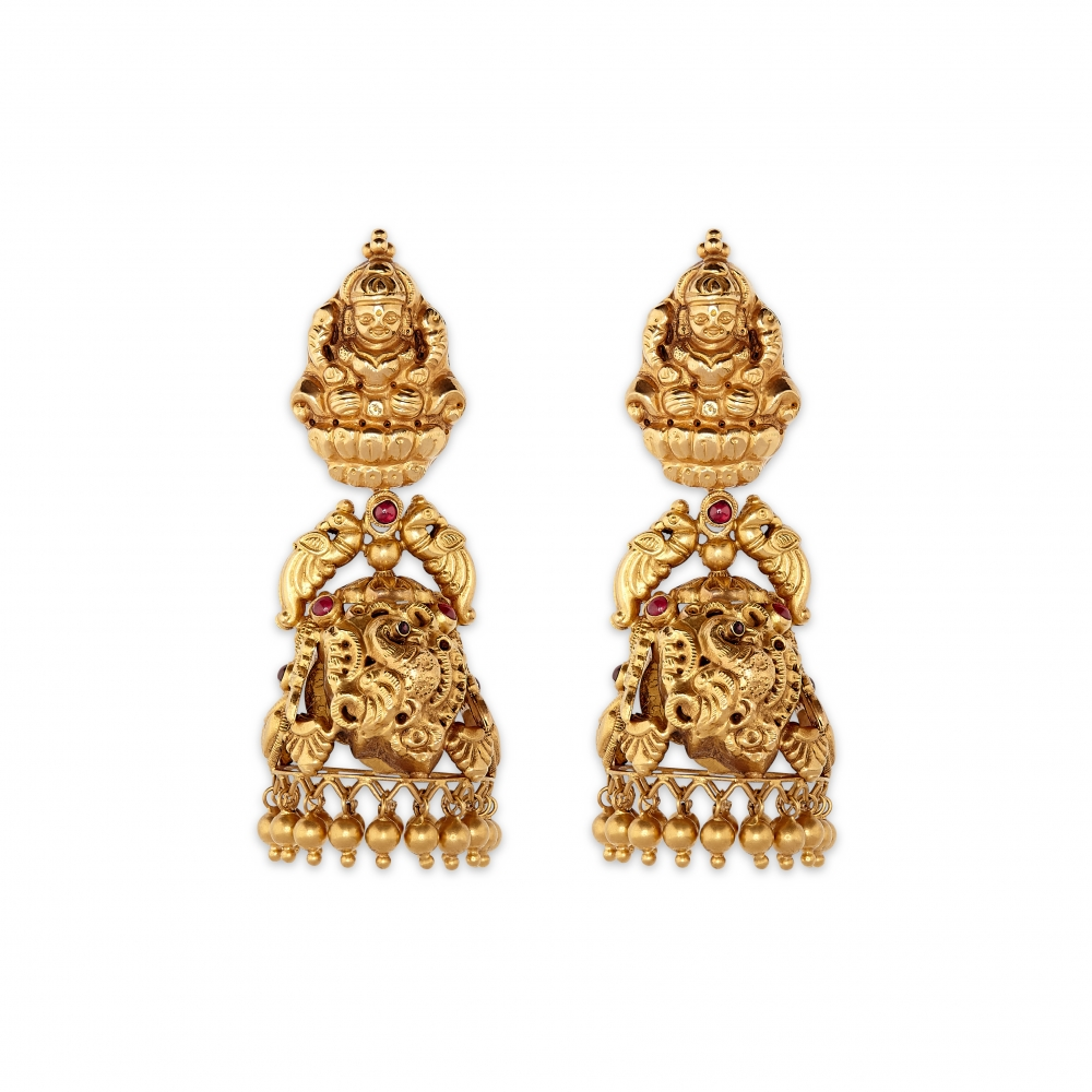 22k Gold Temple Earrings