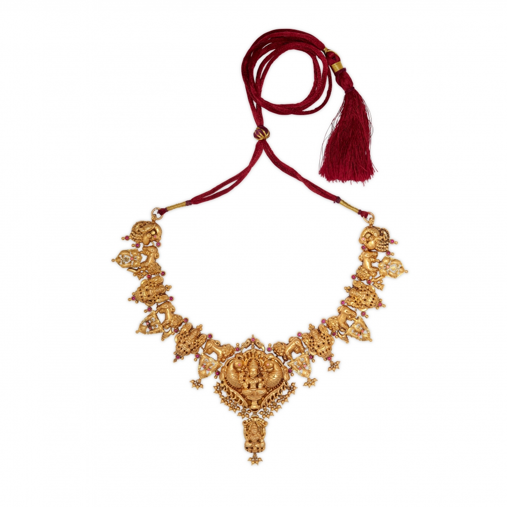 22k Gold Temple Necklace