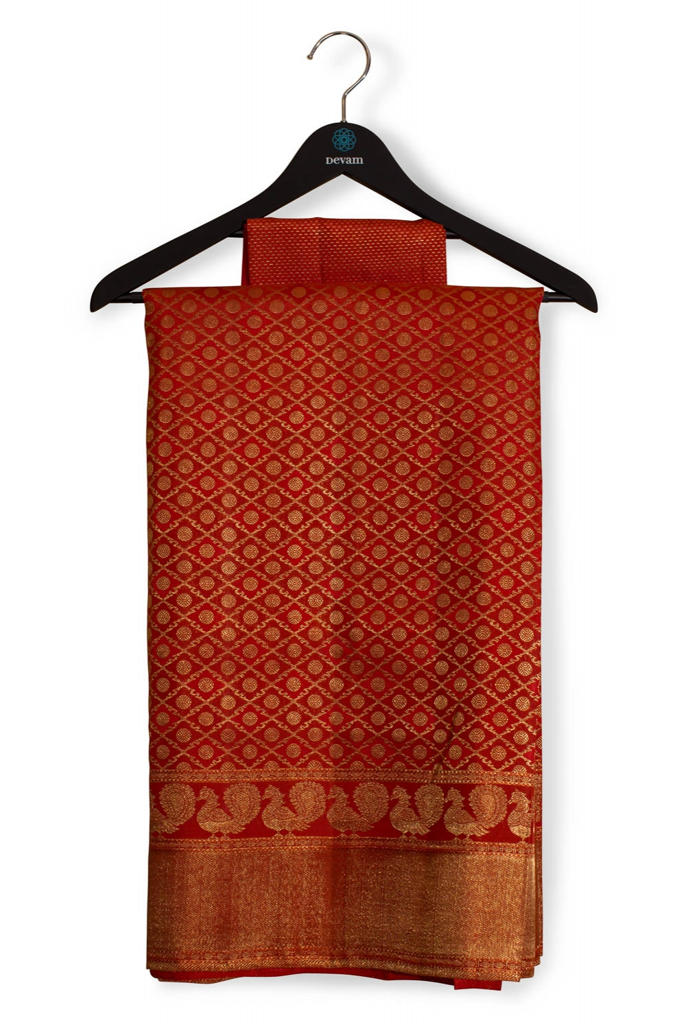 Sindoor Red Real-Jari Bridal Kanjeevaram