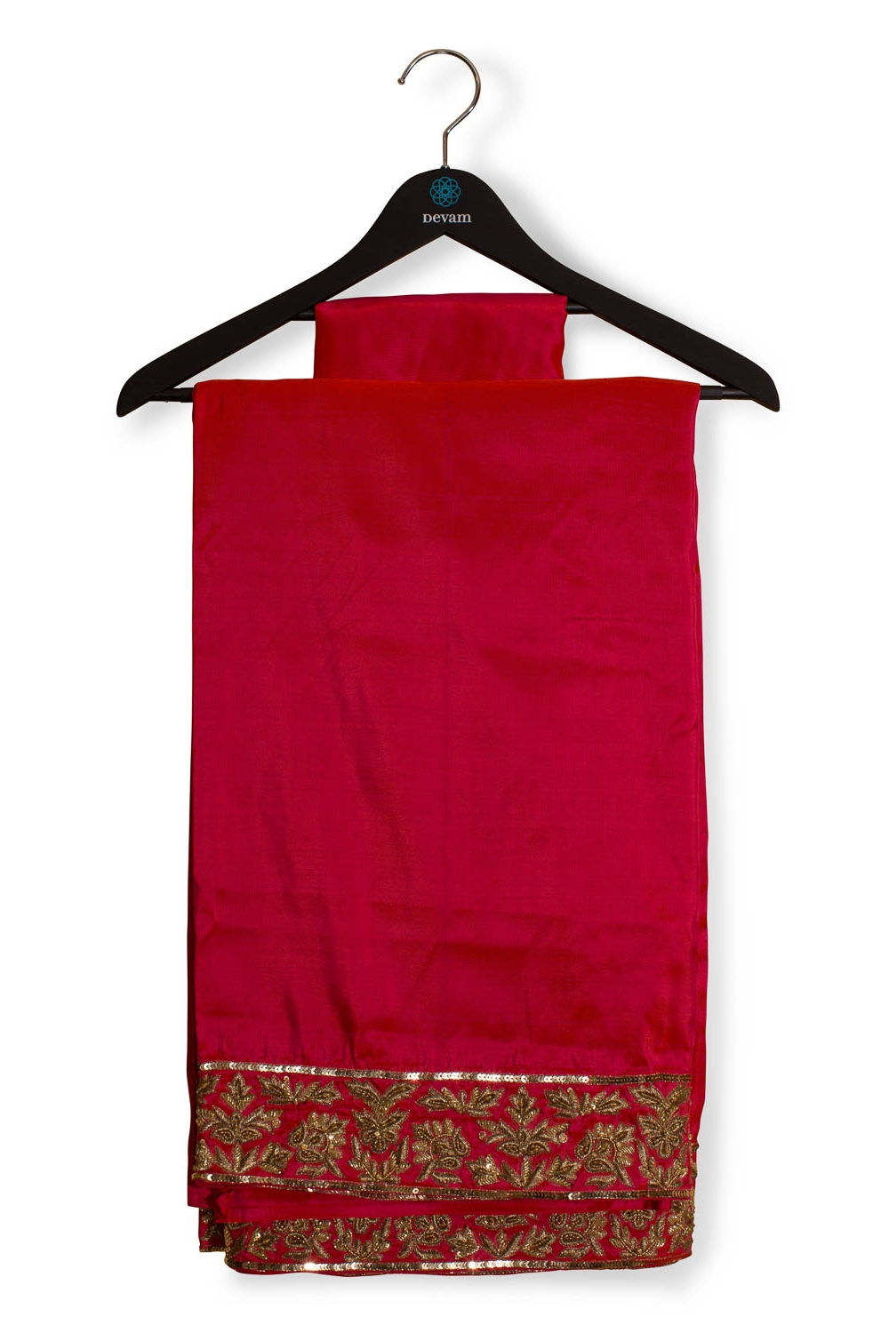 Coral Kanjeevaram Saree With Jardosi Embroidery Accents