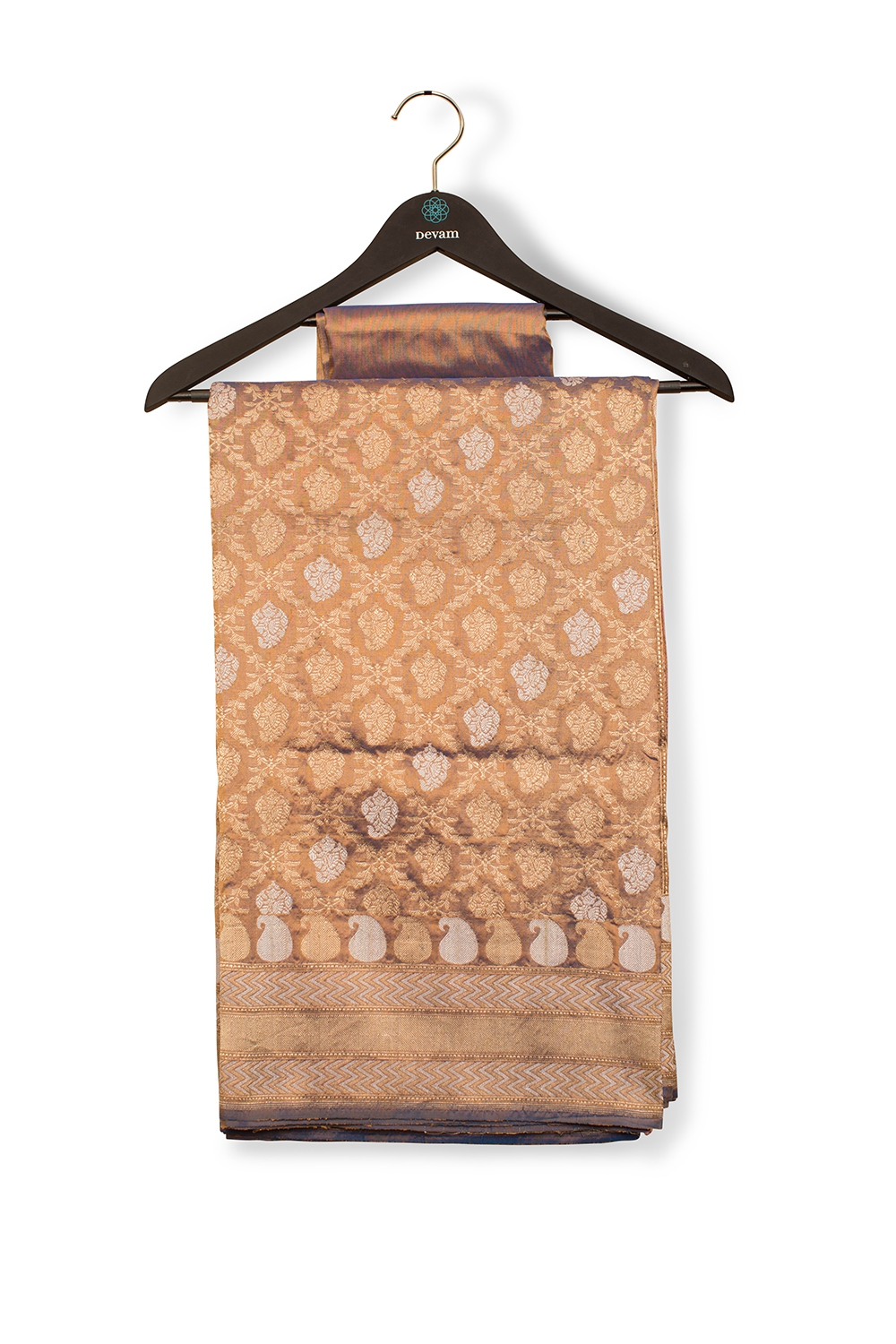 Antique Gold And Traditional Silk Banarasi Saree