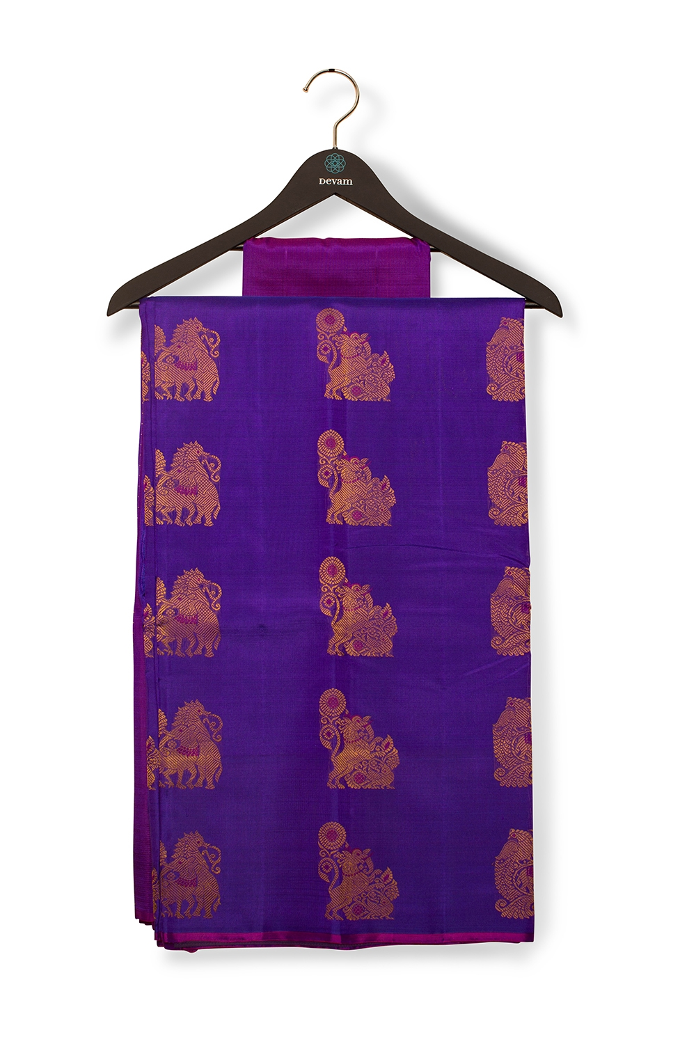 Purple Kanjeevaram With Bird Motifs