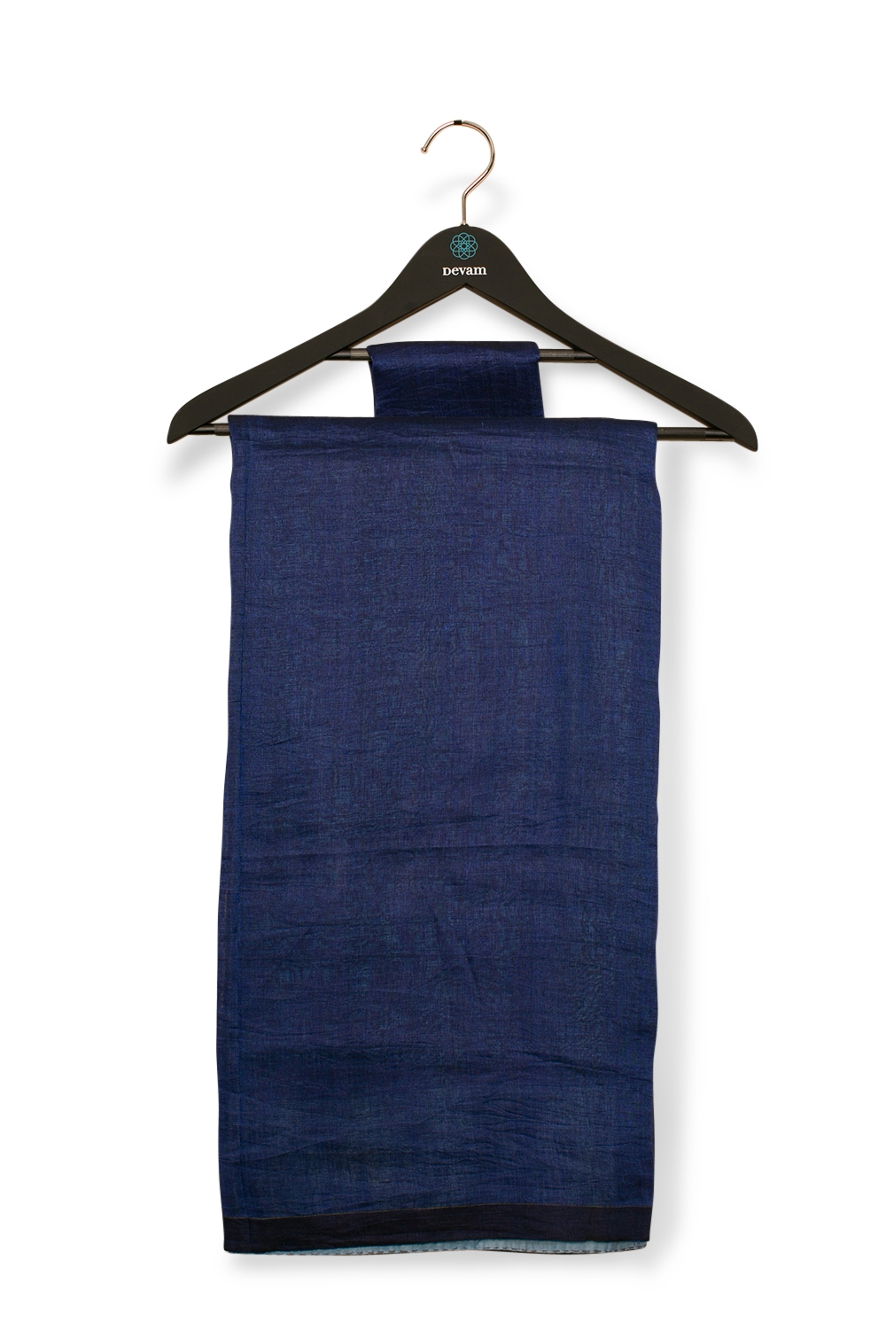 Gray & Blue Linen By Linen Handloom Saree