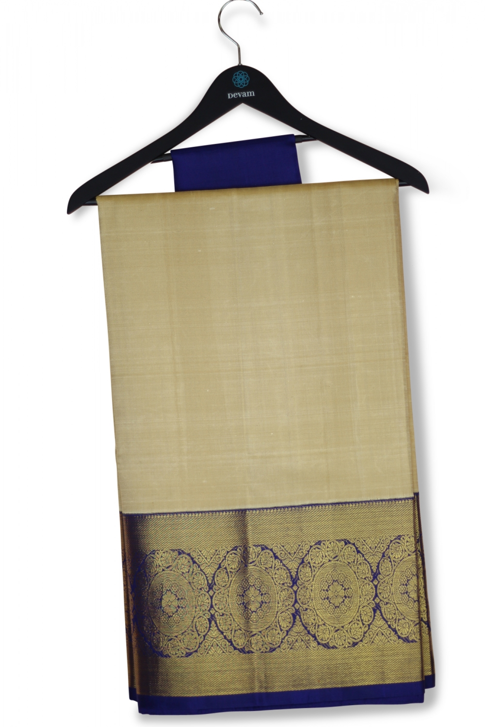 Pure Kanjeevaram Silk Saree With Tussar & Gold Body