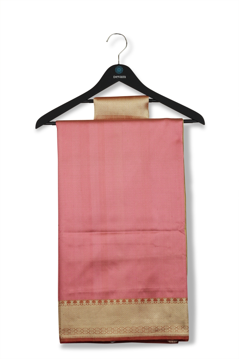 Peach & Maroon Soft Silk Banarasi Saree