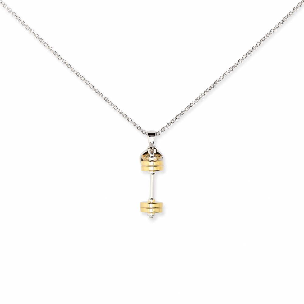 Barbell Gold Plated Charm