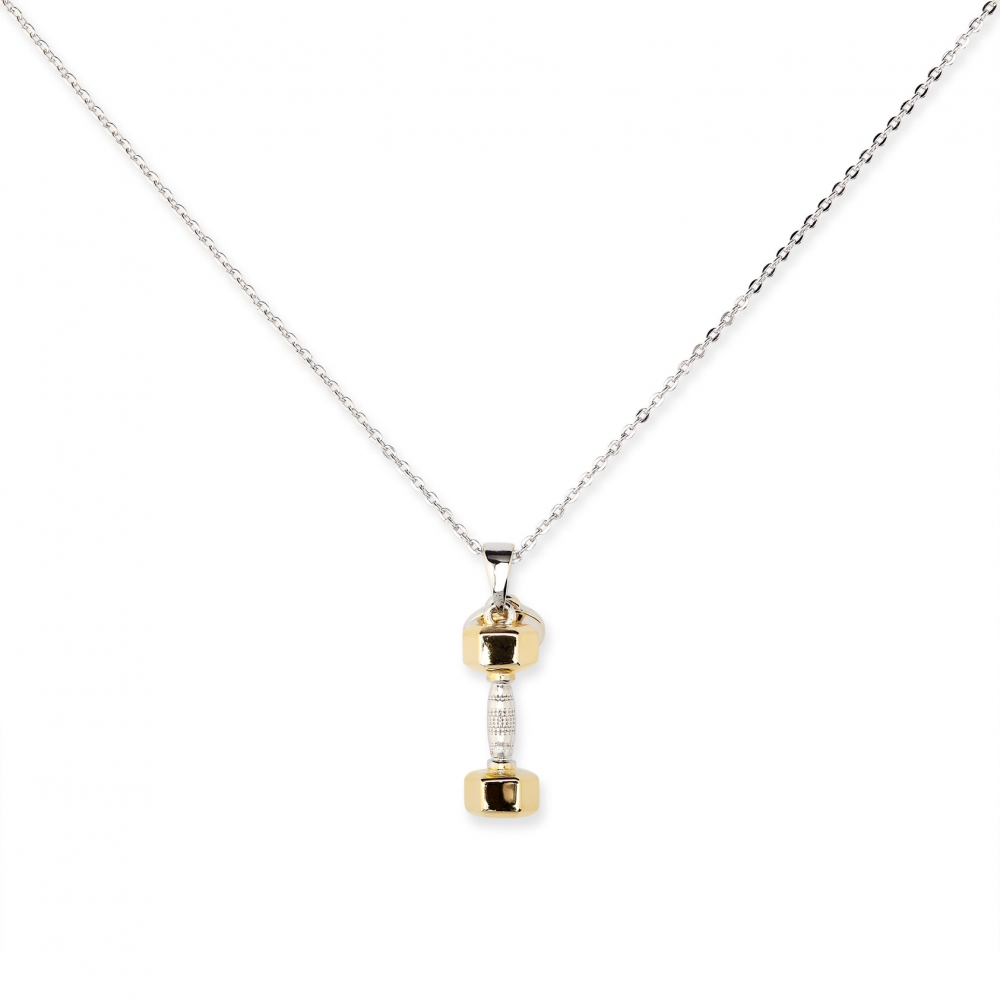 Dumbbell Gold Plated Charm
