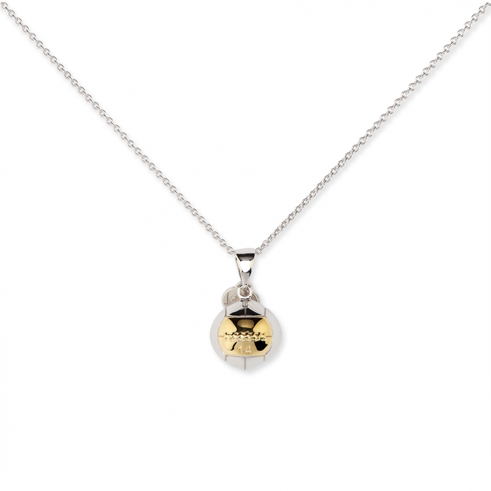 Wall Ball Gold Plated Fitness Charm