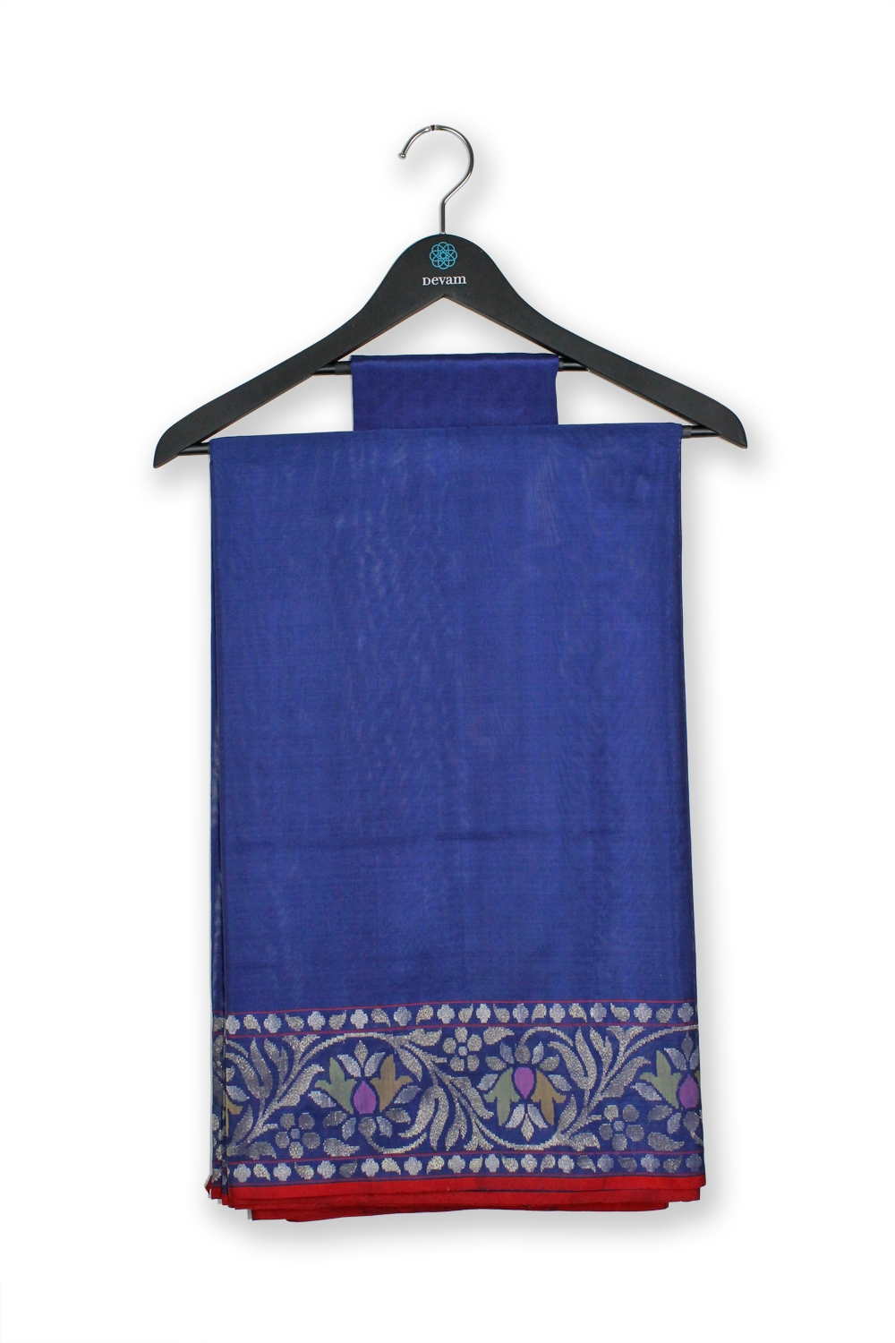 Rich Navy Blue Real Jari Silk Banarasi Saree