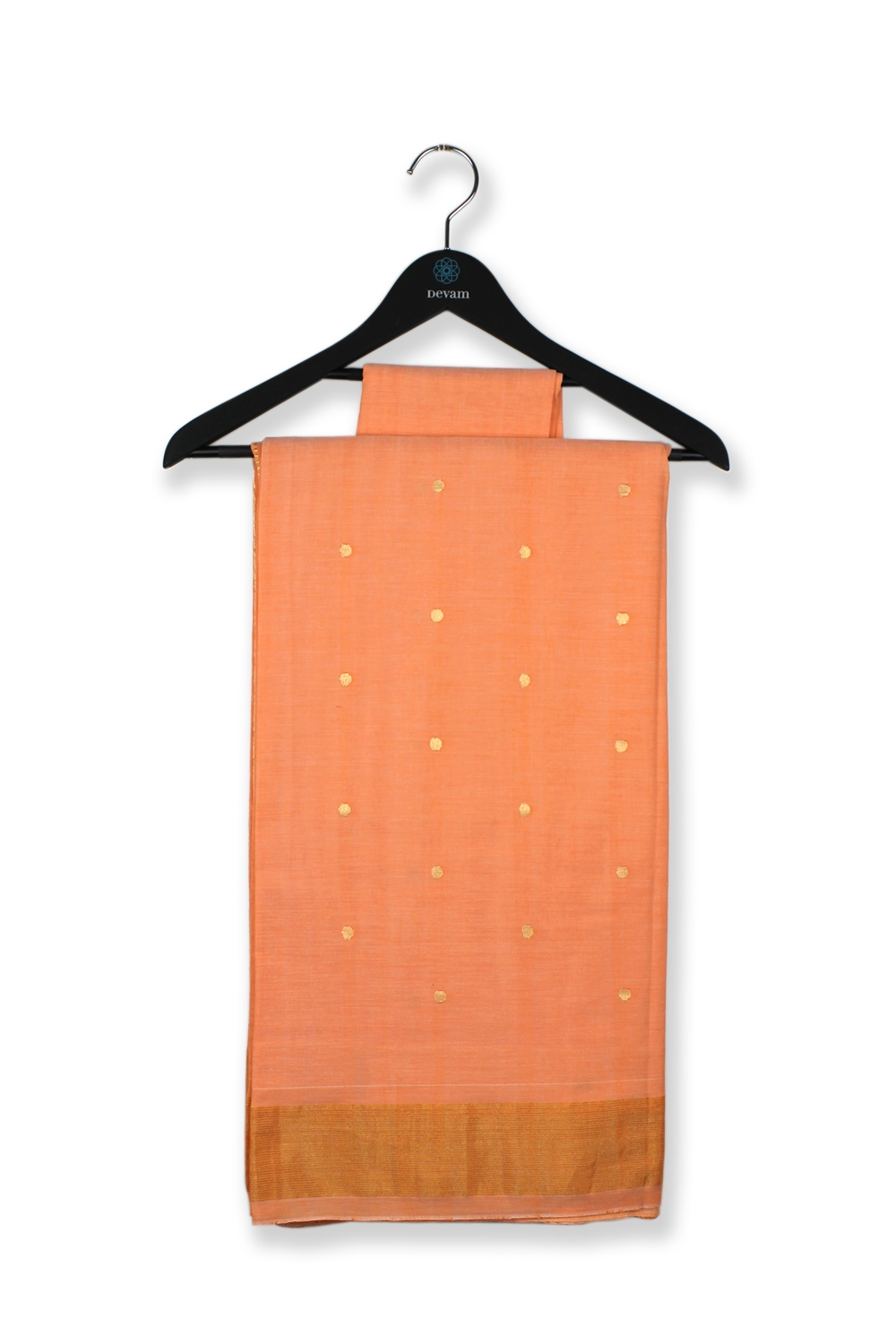 Light Orange Chakra Accent Silk Paithani Saree