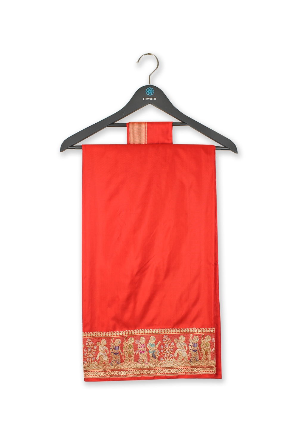 Bright Red Princes Procession SIlk Banarasi Saree
