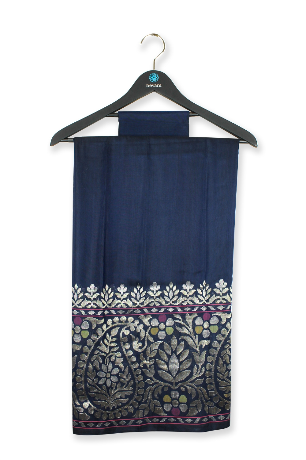 Real Jari Grayish Blue Silk Banarasi Saree
