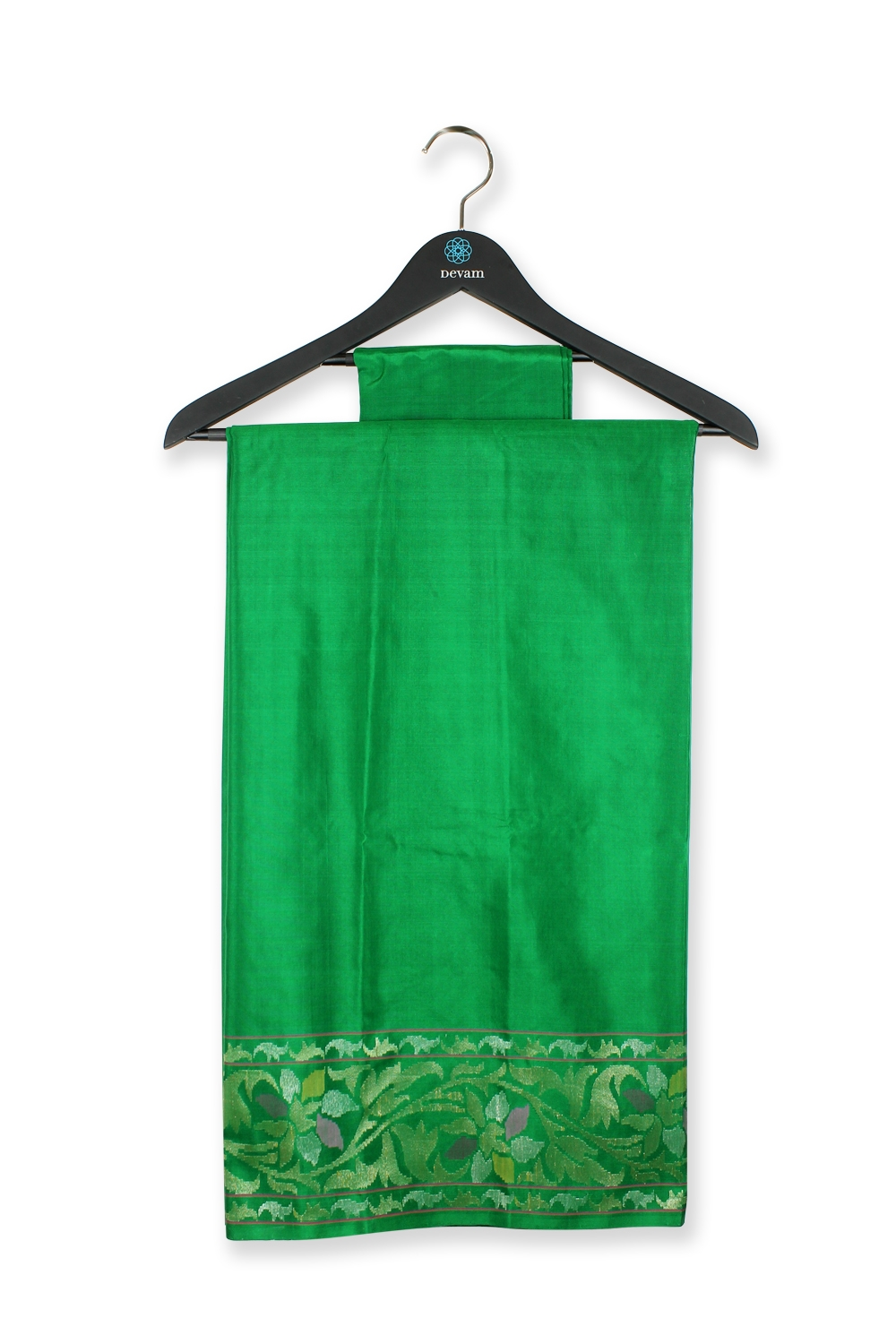 Real Jari Emerald Green Silk Banarasi Saree