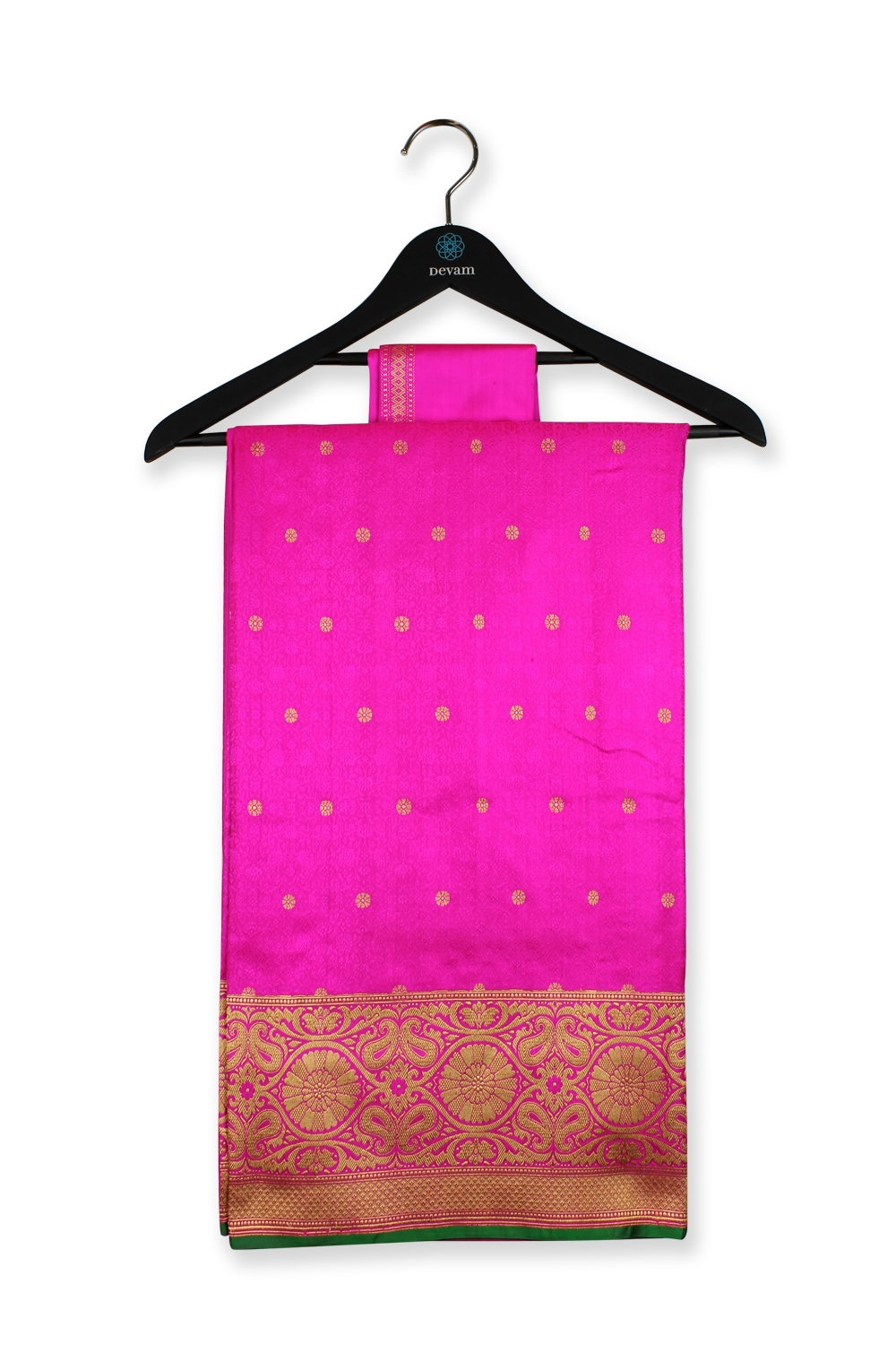 Hot Pink Silk Banarasi Saree