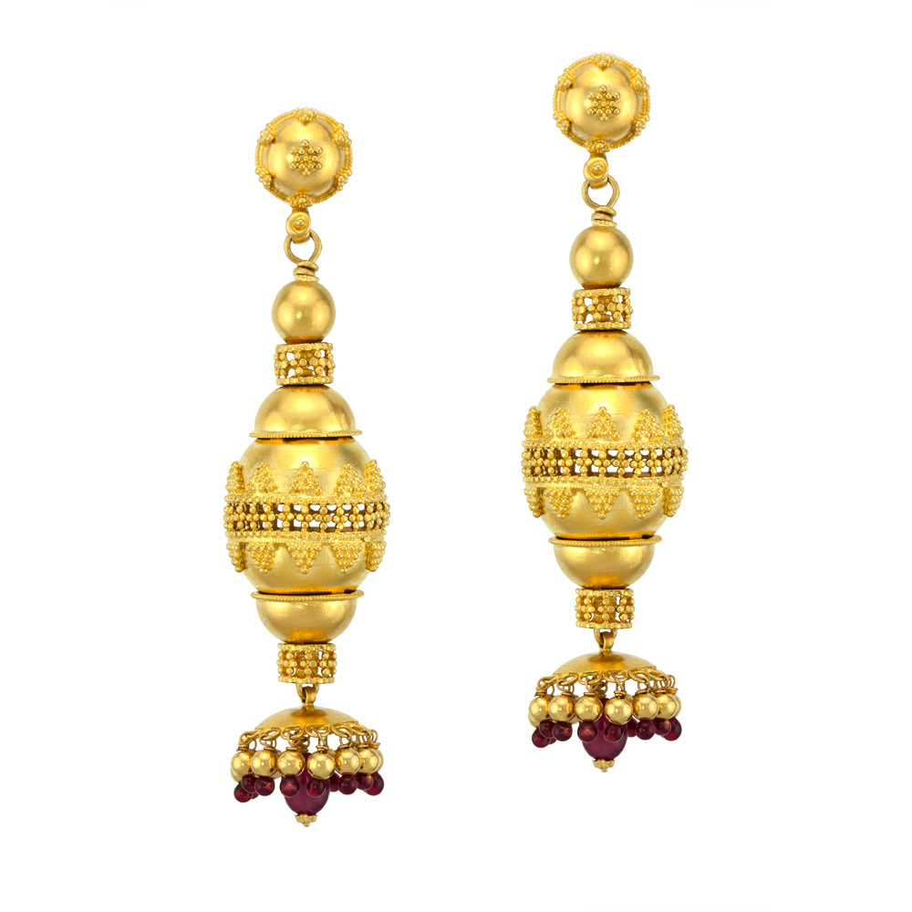 Golden Ruby Jhumka