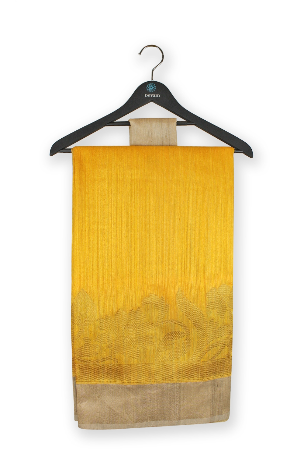 Sunshine Golden Yellow Summer Handloom Muga Silk Banarasi Saree
