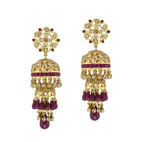 3 Tier Ruby Jhumka