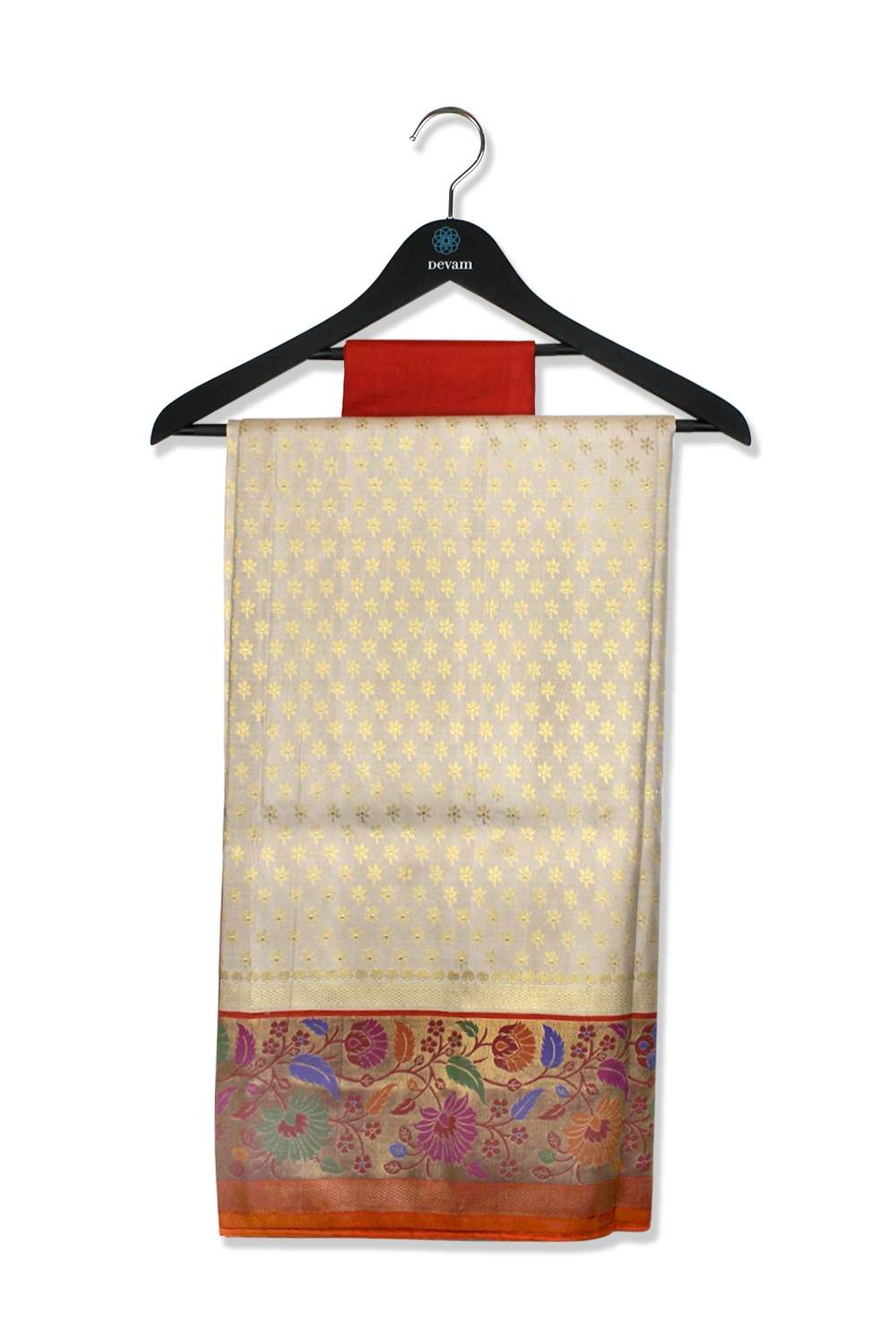 Real Jari Floral Grace Silk Handloom Saree