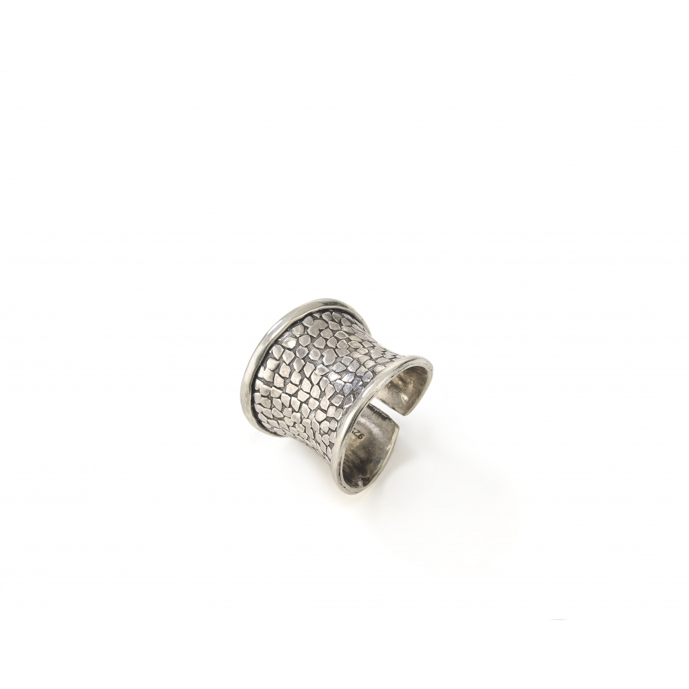 Sterling Silver Cobblestone Ring