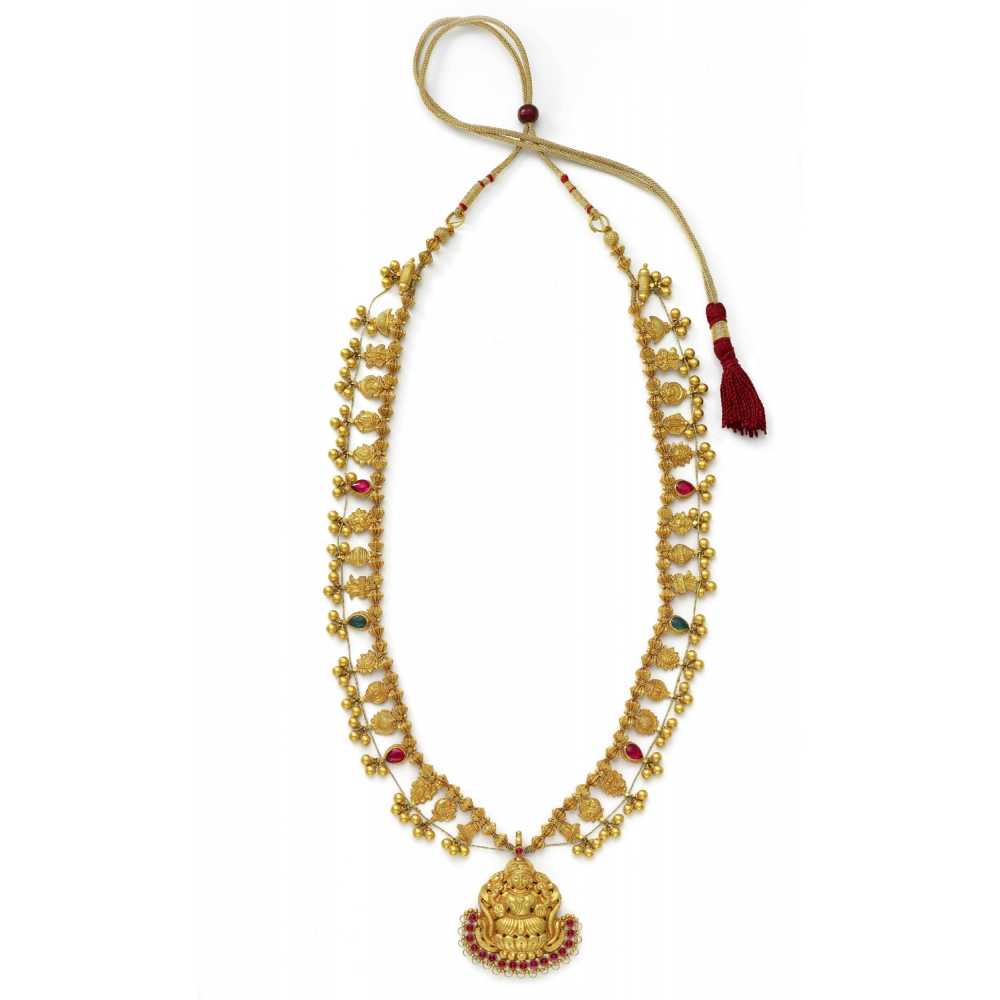 22k Yellow Gold Handcrafted Traditional Kolhapuri Saaj Necklace