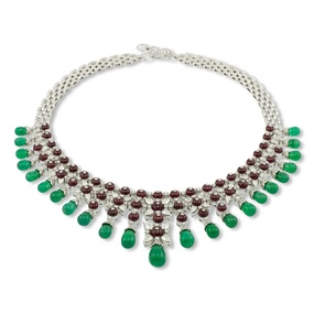 Emerald & Ruby Necklace