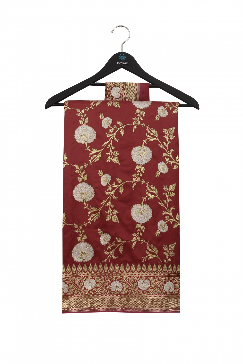 Red & Gold Handloom Silk Banarasi Saree