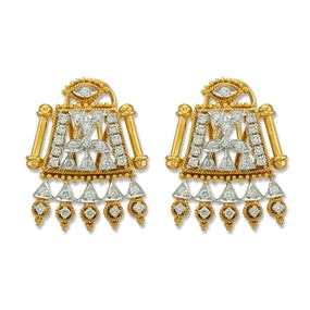 Mangalsutra Style Earrings