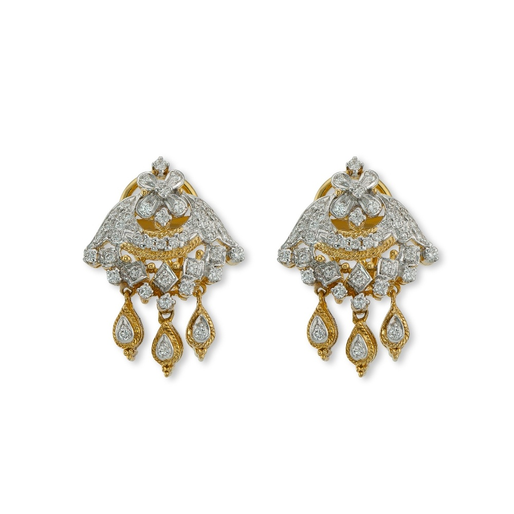 Traditional Diamond Earrings