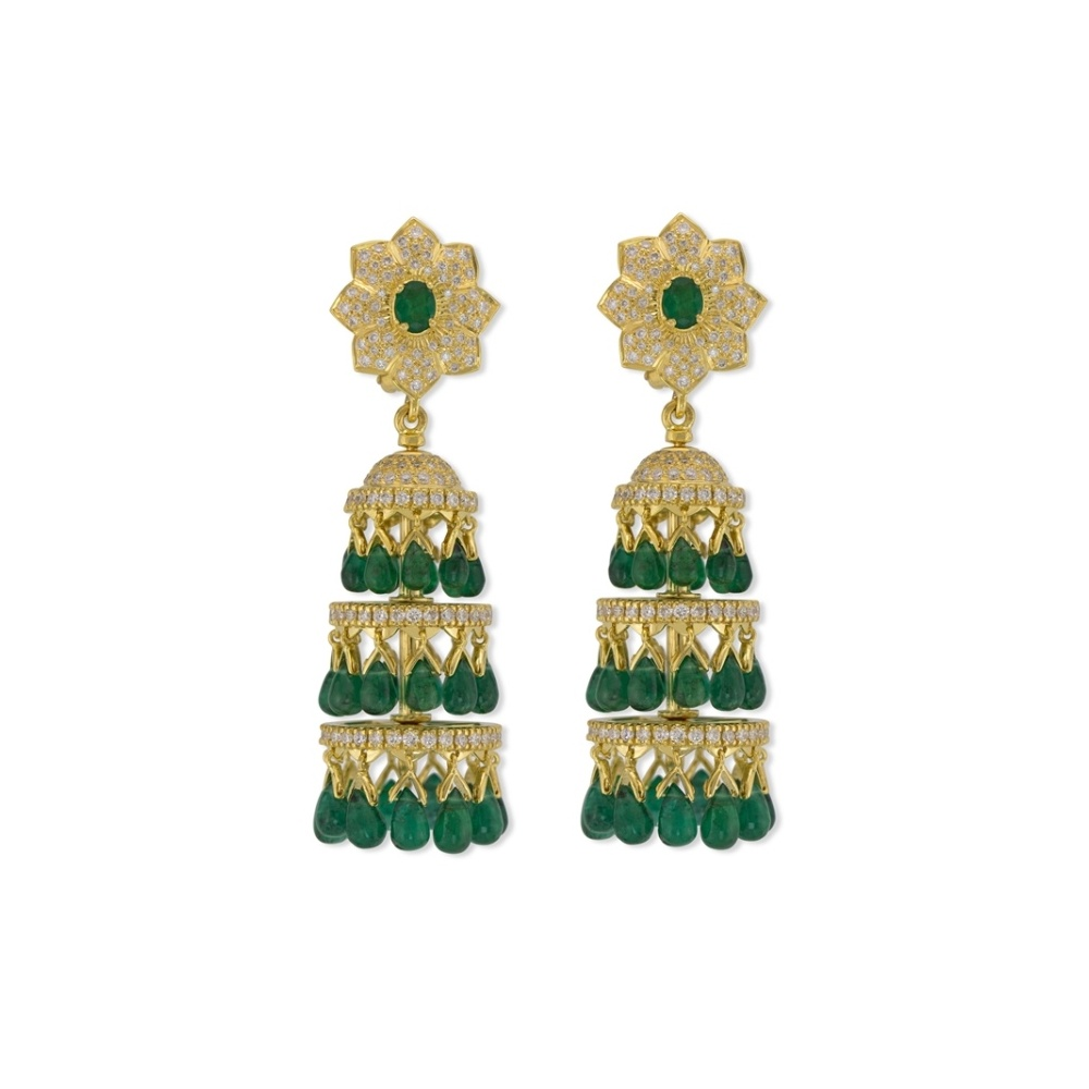 Dancing Emerald Earrings