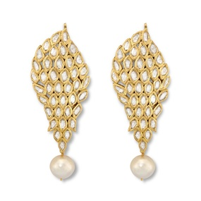 Kundan Pearl Drop Earrings