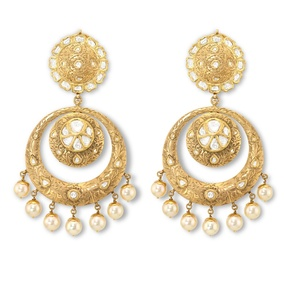 Pearl Chandbali Earrings