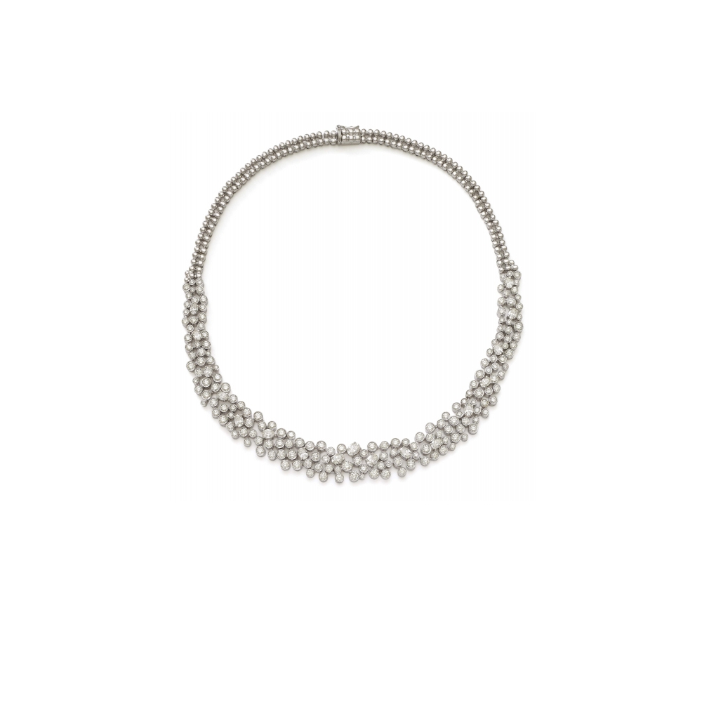 18k White Gold Dangling Jubilee Necklace