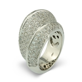 """La Rue Paveé"" Diamond Ring"
