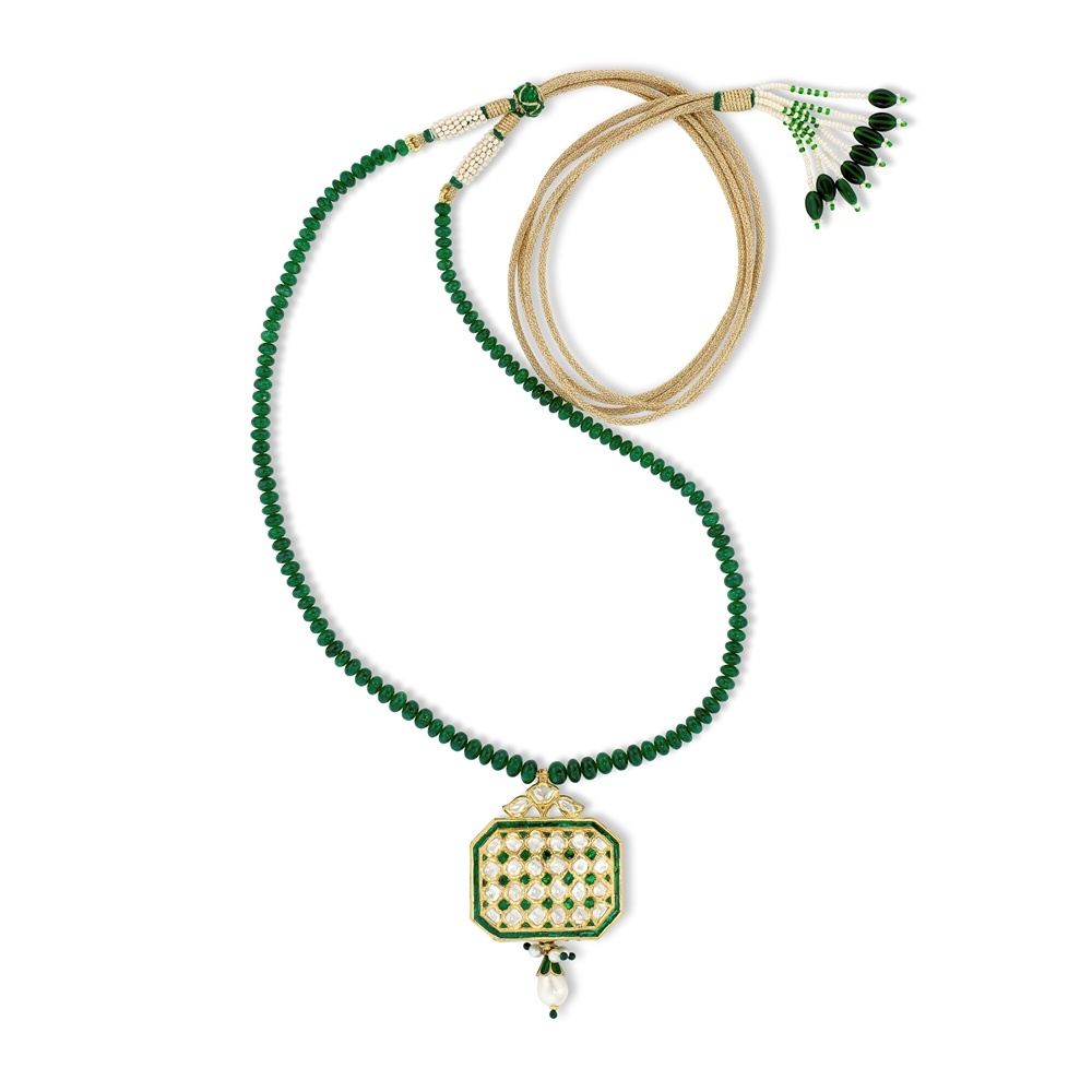 Emerald Mosaic Necklace
