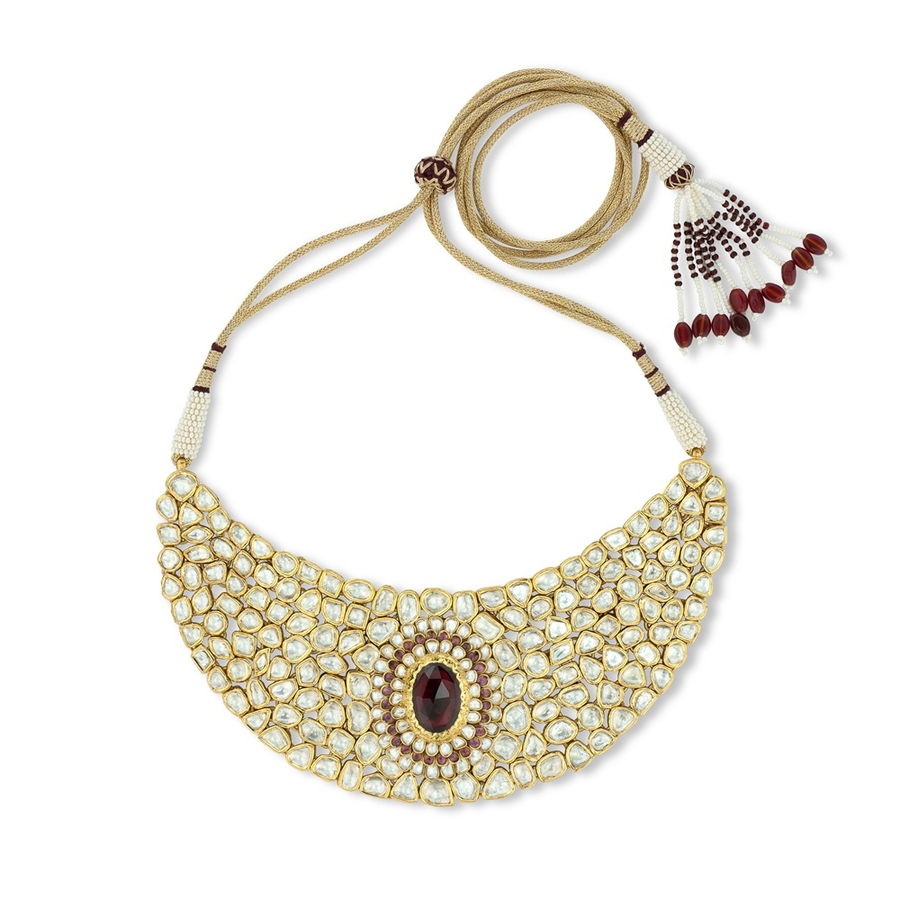 Kundan & Ruby Indian Bridal Set