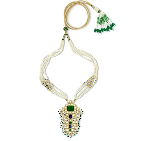 Kundan & Emerald Necklace Set