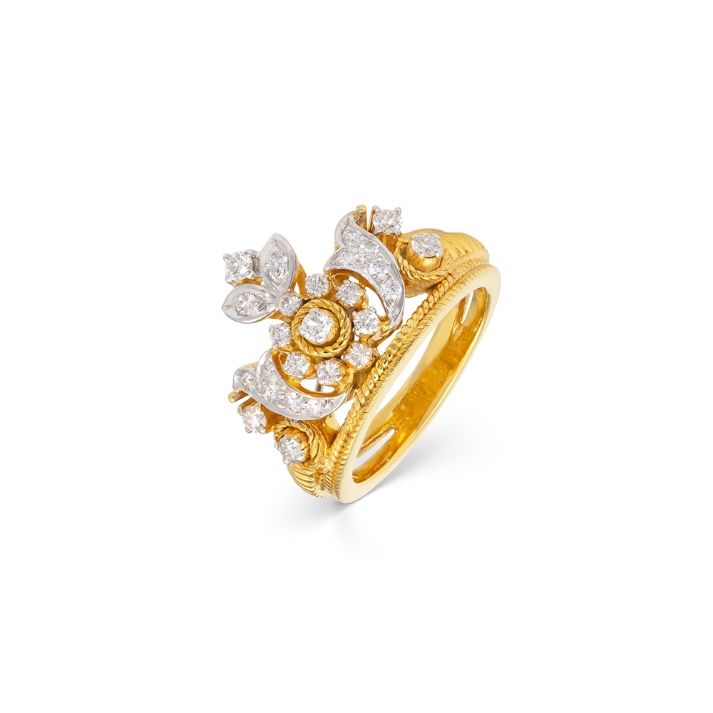 Splendid White Sun Flower Ring