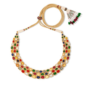 Contemporary Navagraha Necklace Set