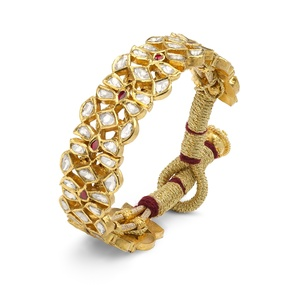 Golden Thread Diamond Ruby Bracelet